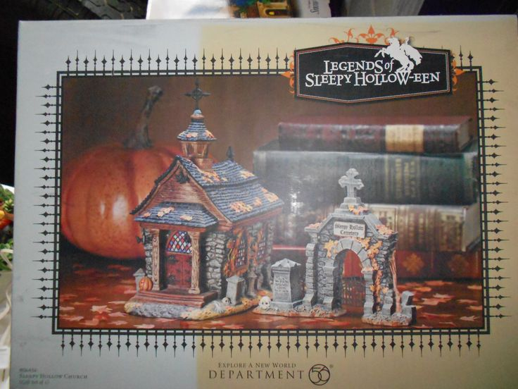 Dept 56 Legends of Sleepy Hollow EEN Sleepy Hollow Church Set of 2 | eBay