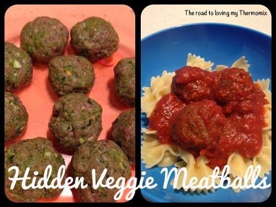 The road to loving my Thermomix: Hidden Veggie Meatballs