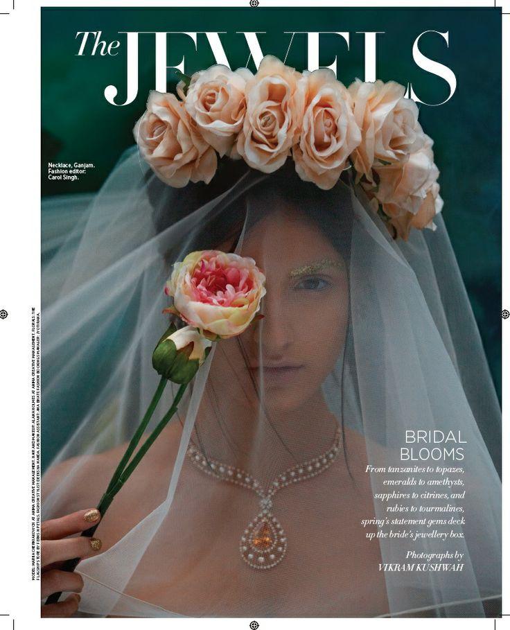 Bridal Blooms The Jewels Harper`s Bazaar Bride April `14