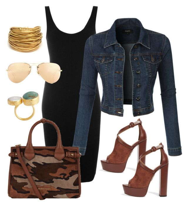 """""""Untitled #2"""" by lchrumka on Polyvore featuring Aquazzura, Givenchy, LE3NO, Black & Sigi, Burberry, Ray-Ban, women's clothing, women, female and woman"""