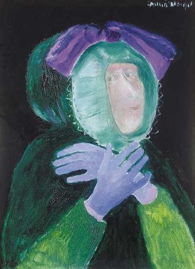 Kék Kesztyű by Hungarian Margit Anna, born Margit Sichermann, 1913~1991