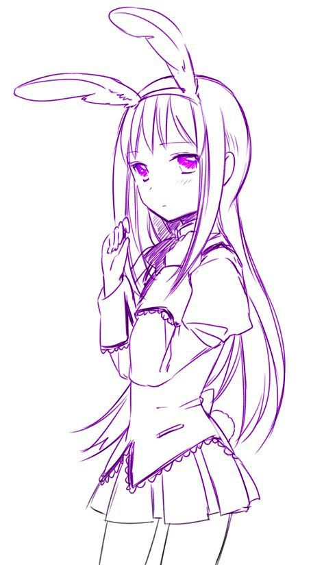 #Homura #Akemi #RabbitEars #Kawaii #Animegirl #Coloredbyme #Toukowhitegraphic