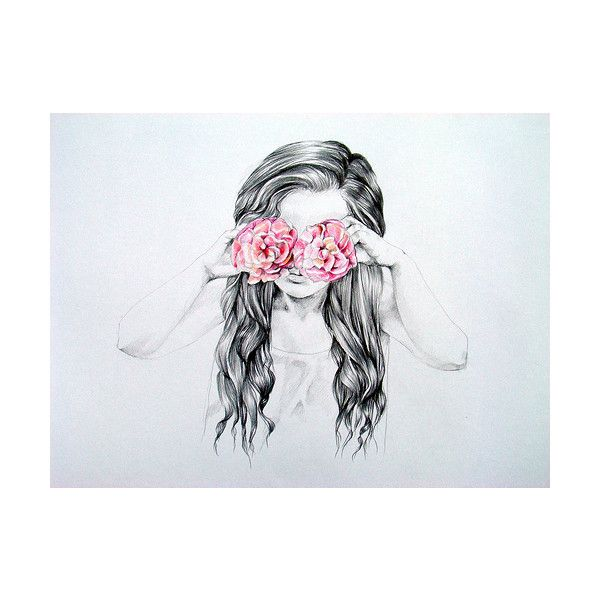 Emo Quotes About Suicide: Drawing, Fashion, Flower, Girl, Hipster Via Polyvore