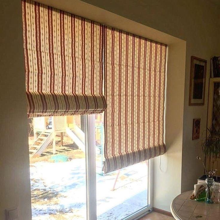 #римские_шторы  в полоску для загородного дома в исполнении @secretdecora и снова #ткань из Tom II #galleria_arben #fabric #декорокна #шторы