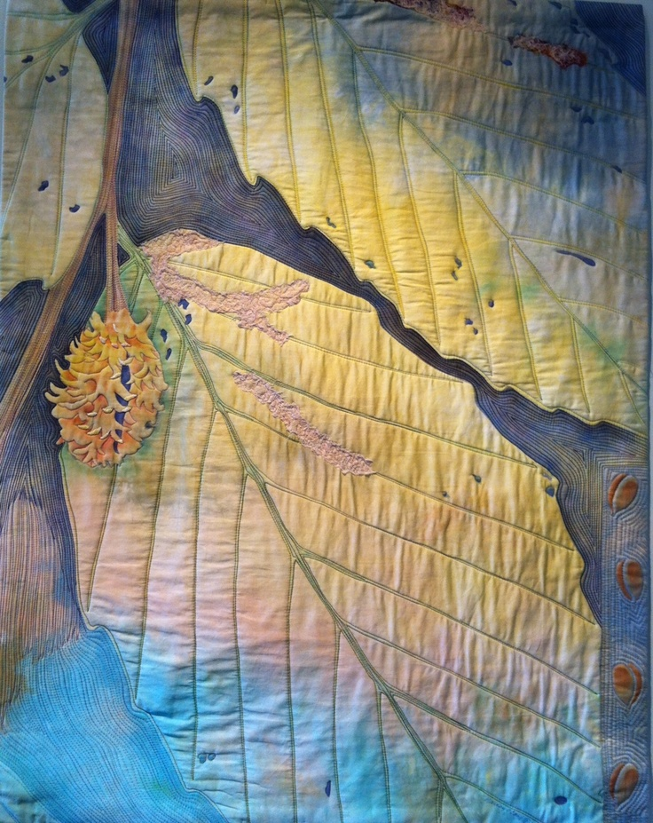 """Summer Split, 36"""" x 28"""", by Nancy Cook. Photo by The Sketchbook Challenge."""