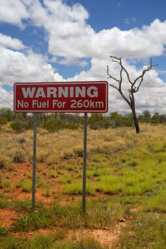Outback Australia. Better watch your fuel gauge.