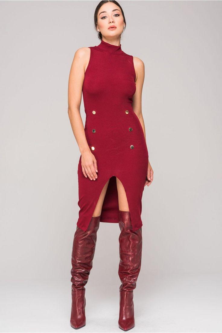 Kikiriki'de Kış Modası devam ediyor. İçinizi ısıtan renkler ve farklı çizgileriyle kışınızı hareketlendiren 'Balıkçı Yaka Kolsuz Elbise'  #kikiriki #fashion #moda #elbise #chlotes #style #dress