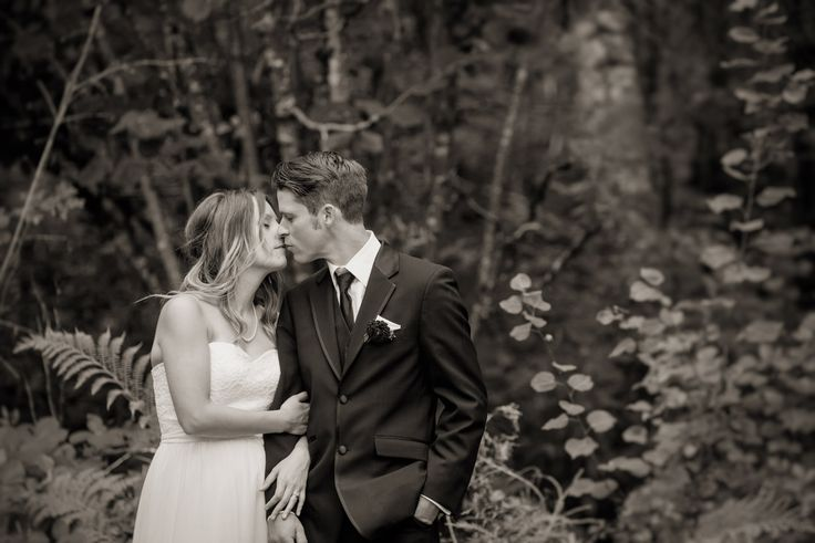 Three Leaf Photography | Abbotsford Chilliwack Langley Wedding Photographers - Bride and groom in a forest setting