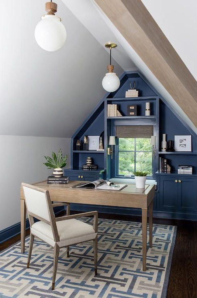 9 Attic Office Ideas So Good That We D Be Willing To Work Overtime Hunker In 2020 Attic Office Attic Living Rooms Home
