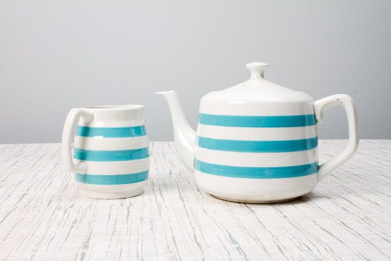 Carrigaline Pottery Tea Pot and Creamer Ireland