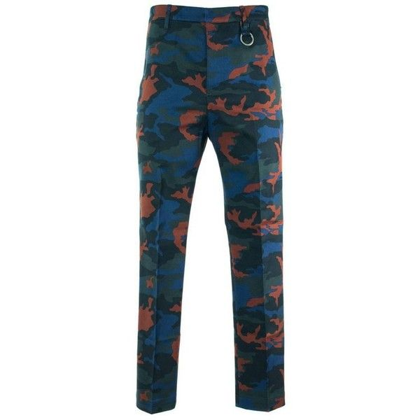 Preowned Givenchy Men's Blue & Orange Camouflage Corduroy Pants ($298) ❤ liked on Polyvore featuring men's fashion, men's clothing, men's pants, men's casual pants, orange, pants, mens leopard print pants, mens blue camo pants, mens pants and mens camo pants
