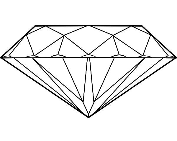 Diamond Shape Fancy Diamond Shape Coloring Pages