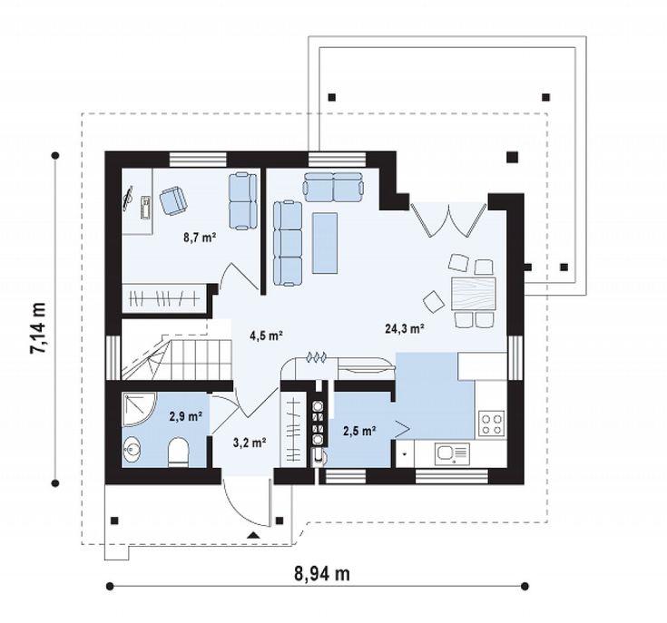 proiecte de casa cu parter si mansarda 2 plan parter