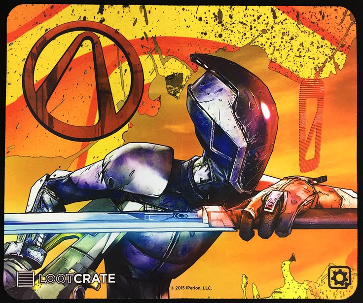 Borderlands Zer0 Mouse Pad Game Mat Inside Loot Crate: Cyber, the June, 2015 Edition