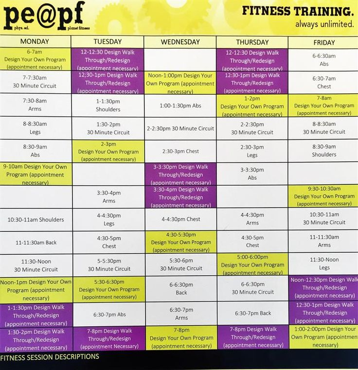 Planet Fitness Workout Plan For Beginners Viewyoga