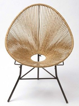 Ellipse Chair | Soft cotton chord on iron base. Also available in indigo.