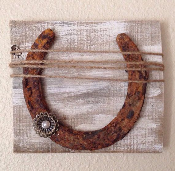 Rustic Horse Shoe Wall Decor By Calliescozycottage On Etsy Home Decor Pinterest Shoe Wall