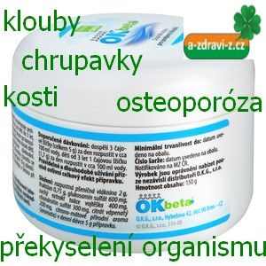 OK Beta+  - překyselení organismu, klouby, kosti, chrupavky, ...