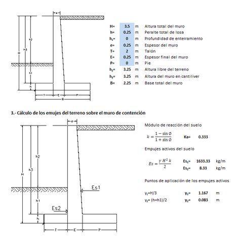 Muro de contención de concreto ntc - 2004 (xlsPlanilla de calculo)