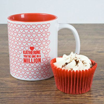 One In A Million Romantic Personalised Mug #kitchengiftco
