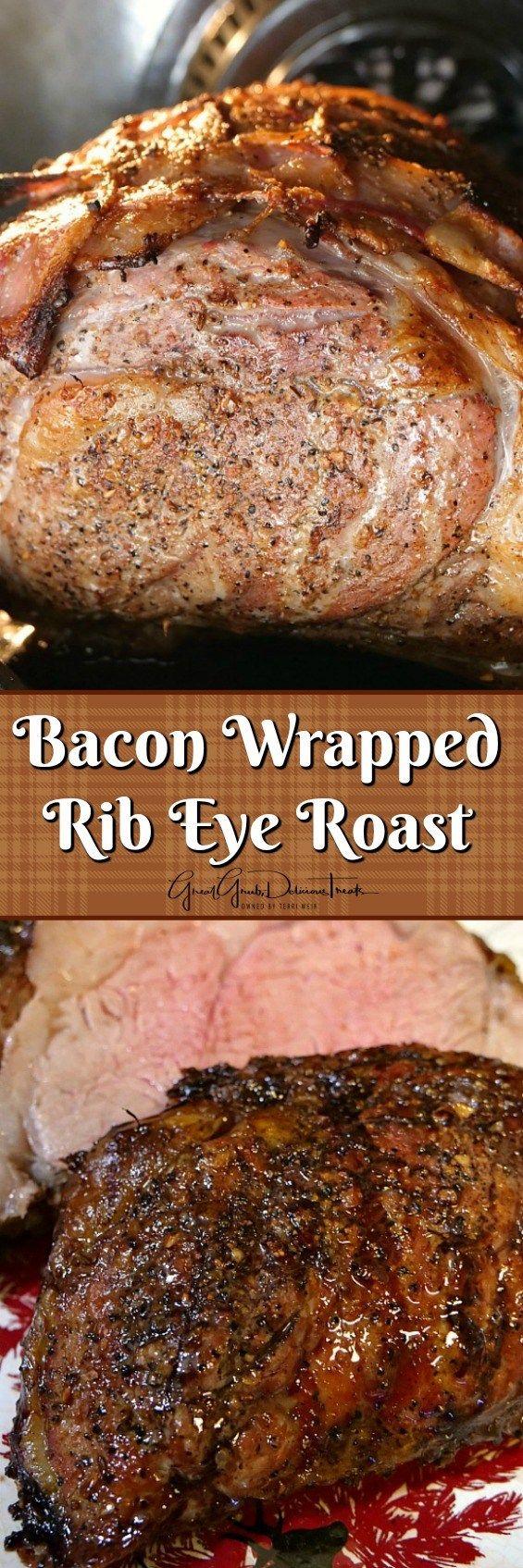 Bacon Wrapped Rib Eye Roast