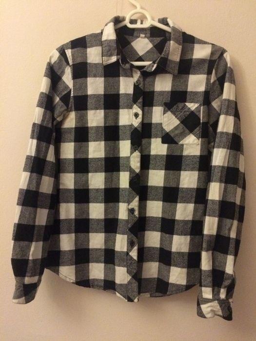 koszula w krate sheinside w idealnym stanie