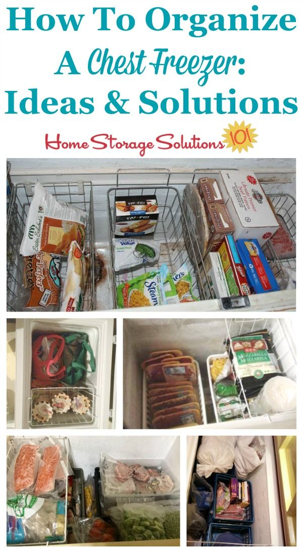 Practical real life ideas and solutions for how to organize a chest freezer {on Home Storage Solutions 101}