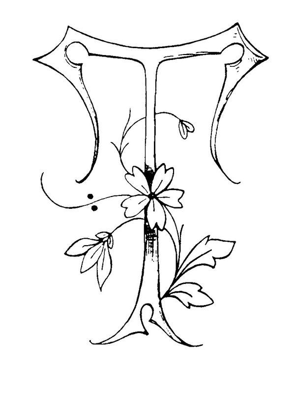 T Embroidery Pattern. jwt