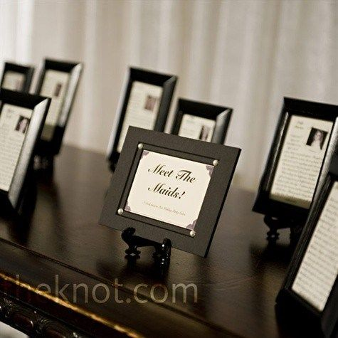 Meet the Maids- A Bridal Shower Idea! and at reception