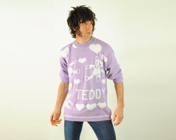 80er Jahre lila und weißen Teddybär Herz von CarnivalOfTheManiac, $41.77 -> Hahah :)