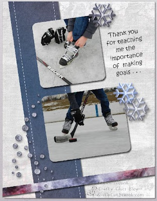 hockey scrapbook page made with MyMemories Suite software