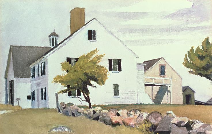 Farm House At Essex Massachusetts Painting by Edward Hopper - Farm House At Essex Massachusetts Fine Art Prints and Posters for Sale