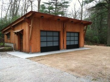 Two car garage contemporary garage and shed
