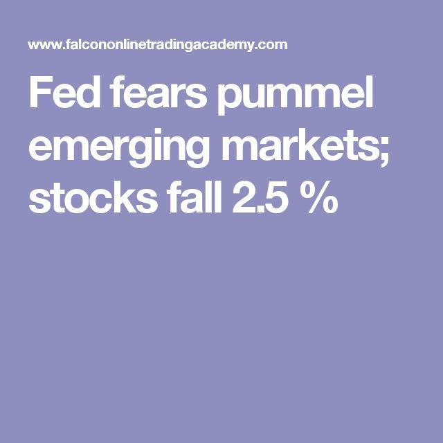 Fed fears pummel emerging markets; stocks fall 2.5 %