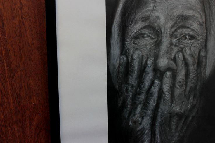 Ilustración pastel seco  Autor: Sebastián Zamorano  Titulo: Reflejo