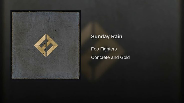 Just a Sunday song and because I like it. 😊Sunday Rain- Foo Fighters