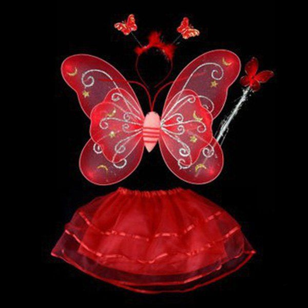 Halloween Butterfly Angel Dress Up 4PCS Kids Costume Set #women, #men, #hats, #watches, #belts, #fashion