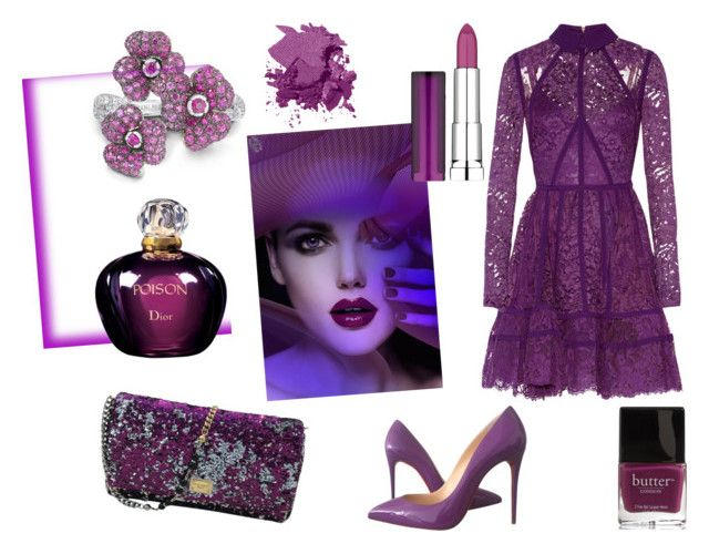 """""""Fantasy"""" by elena-anders on Polyvore featuring мода, Elie Saab, Christian Louboutin, Dolce&Gabbana, Christian Dior, Butter London, Bobbi Brown Cosmetics и Maybelline"""