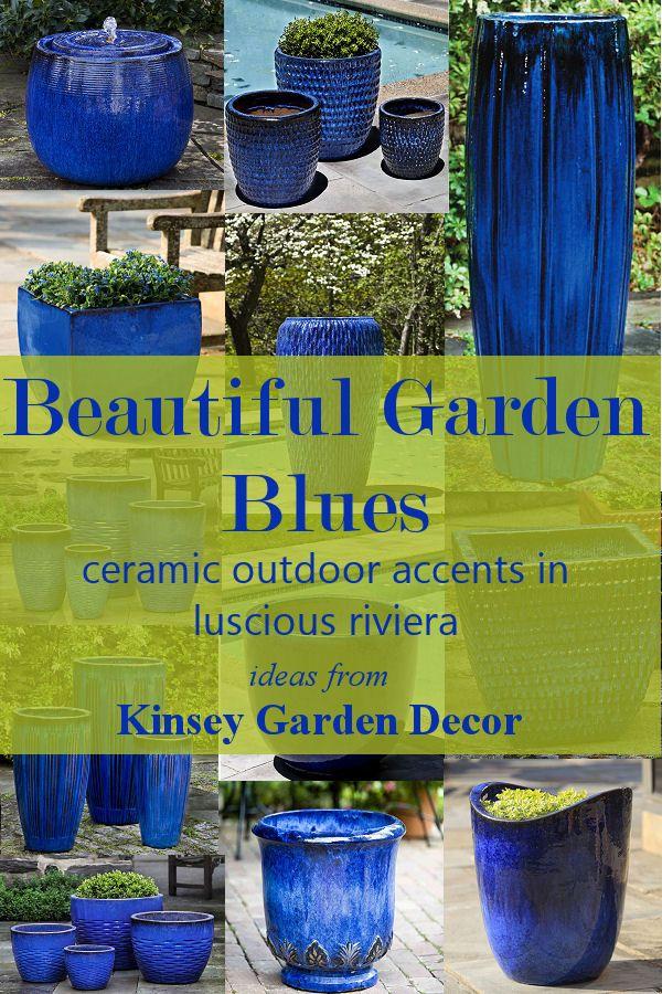 Talavera Jar Blue Extra Tall Floor Vase Kinsey Garden Decor Water Fountains Outdoor Extra Tall Floor Vases Fountains Outdoor