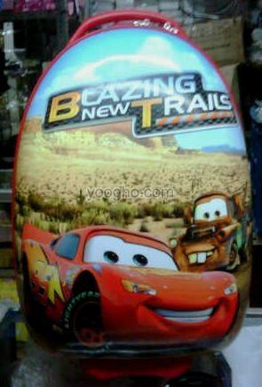 Tas Trolley Telur Sekolah Anak (Cars) Import