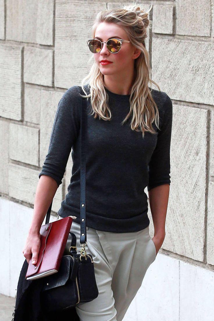 Hair Idea: The Half Bun - Celebrity Street Style Hair Inspiration - Harper's BAZAAR