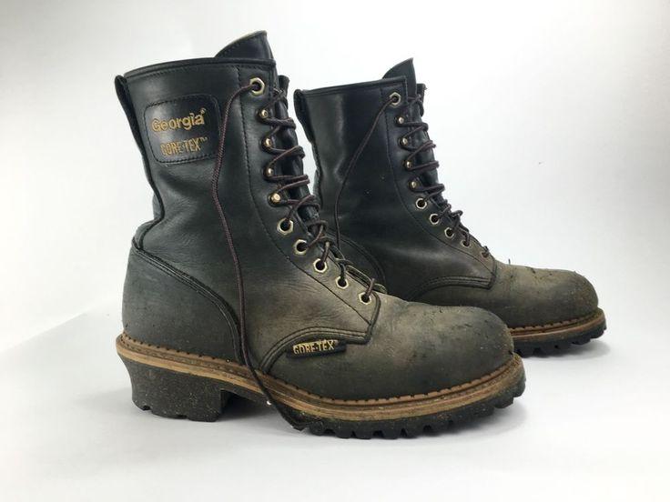 Vintage Georgia Logger Boots Steel Toe Size 11 M #Georgia #WorkSafety