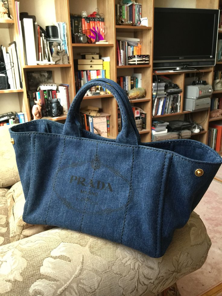Prada bag Canapa denim canvas. My new love | My bags | Pinterest ...