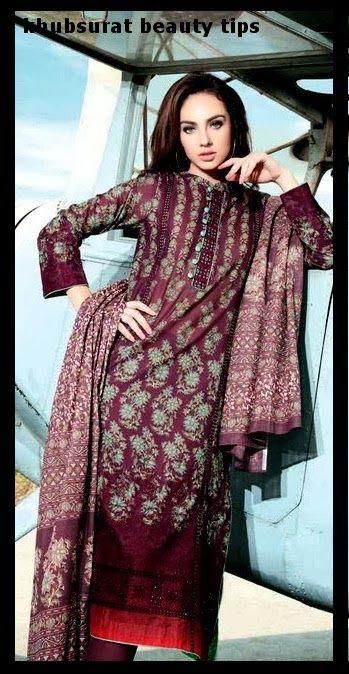 Primal Lawn dress of Gul Ahmad 2014