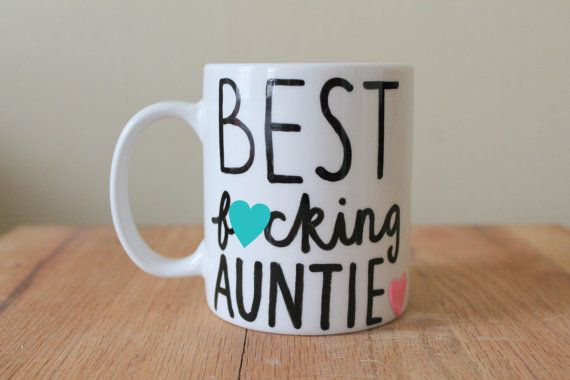 best fucking auntie coffee cup best aunt ever mug pregnacy annoucement gift for sister by astraychalet