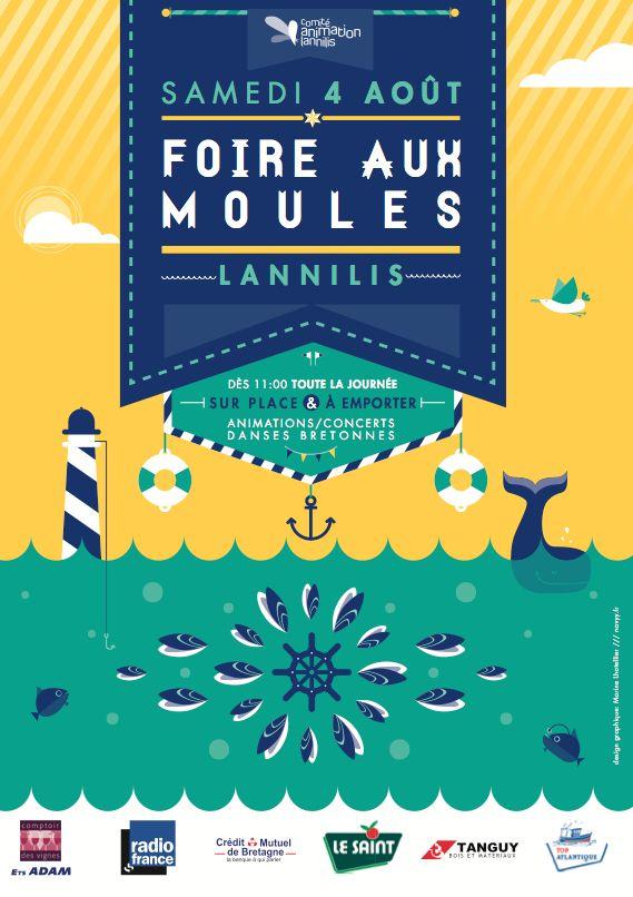 Foire aux moules   NAVYY   graphiste Nantes & Brest