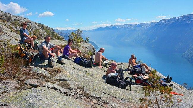 De beste nedturene. Bilde fra Lysefjorden. Foto: Odd Inge Worsøe