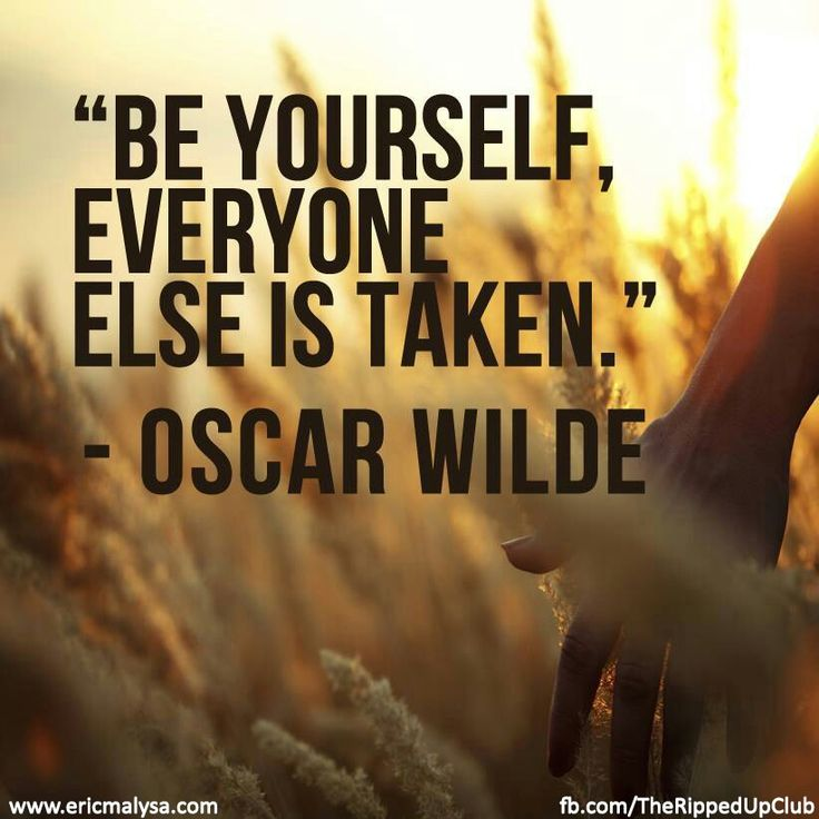 Just be yourself!!