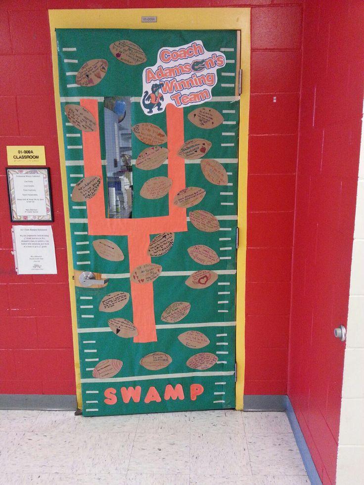Florida Gators Teacher Appreciation Door Football Field Lines Used Wi Teacher Appreciation Door Decorations School Door Decorations Teacher Appreciation Doors