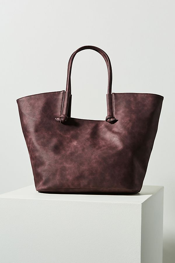 5c66b7c17b Kaitlyn Knotted Tote Bag in Plum